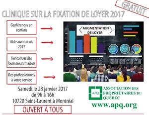 Clinique sur la fixation de loyer APQ 2017